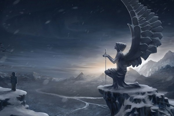 Ángel de piedra