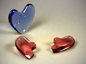 Postal: Corazón roto