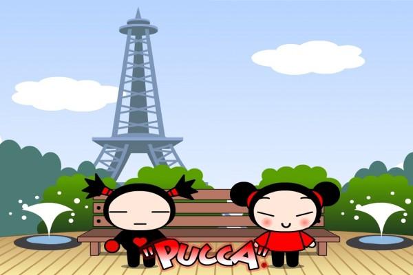 Pucca y Garu en París