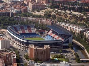 Postal: Panorámica del Estadio Vicente Calderón (Atlético de Madrid)