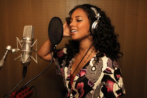 Alicia Keys en el estudio de grabación