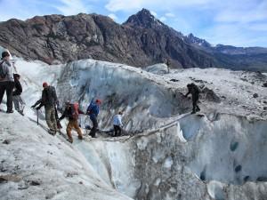Postal: Caminata sobre el Glaciar Viedma (Argentina)