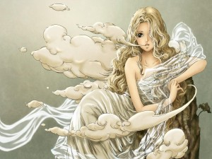 Postal: Diosa de las nubes