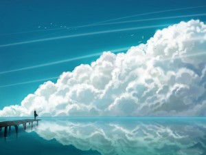 Postal: Contemplando las espesas nubes