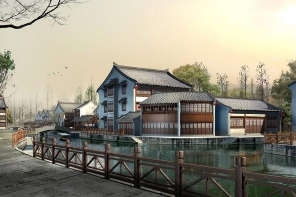 Casas en el río