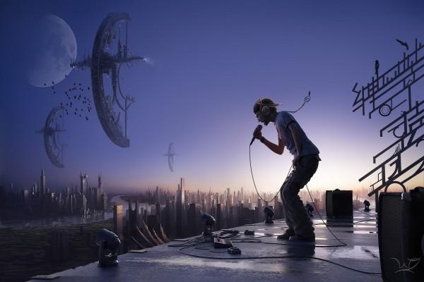 Un concierto futurista