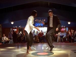 Vincent y Mia, bailando