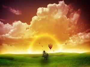 Amanecer con globos aerostáticos