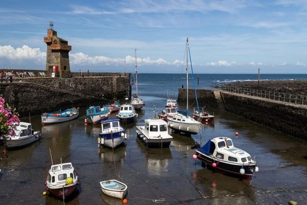 Puerto de Lynmouth, Devon, Inglaterra