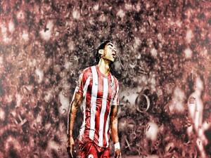 Falcao con la camiseta del Atlético de Madrid