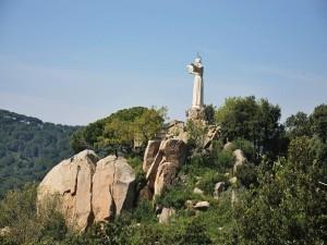Estatua y mirador del Sagrado Corazón de Teia, Cataluña (España)