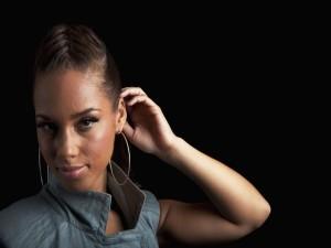 La guapa cantante Alicia Keys