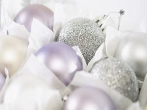 Postal: Bolas navideñas