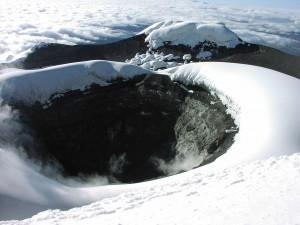 Postal: Cráter del volcán Cotopaxi, Ecuador