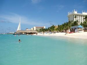 Postal: Playa en Aruba
