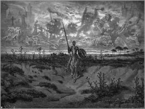 Lámina de Don Quijote de la Mancha