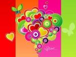 San Valentín colorido