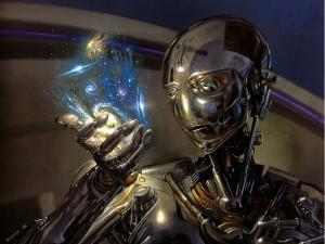 Postal: ¿Dios es un robot?