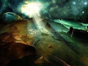 Postal: Un planeta muy lejano