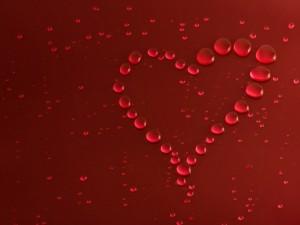 Burbujas formando un corazón