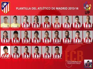 Plantilla 2013-2014 Atlético de Madrid