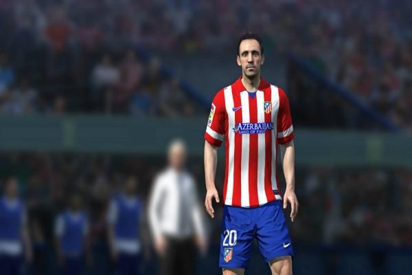 Juanfran, jugador del Atlético de Madrid en el videojuego FIFA