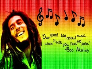 Postal: Bob Marley y la música