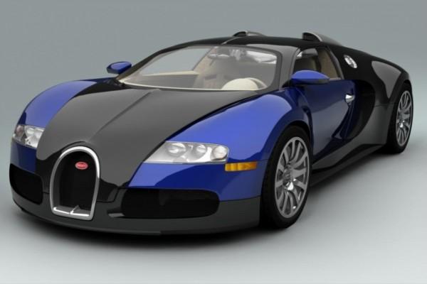 Bugatti Veyron azul