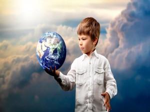 Postal: Sujetando el mundo