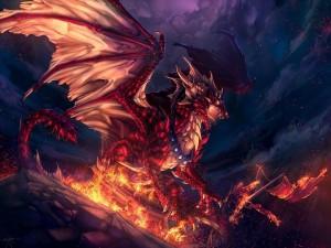 Postal: El dragón enfurecido