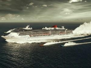Postal: Barcos en el mar