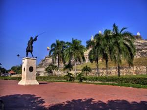 Postal: Estatua de Blas de Lezo en Cartagena de Indias