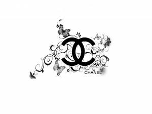 Postal: Chanel y mariposas