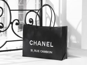 Postal: Chanel, bolsa de compras