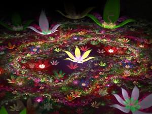 Flores abstractas