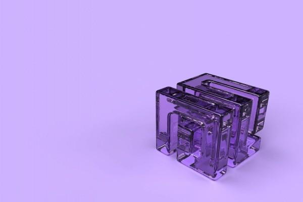 Cubo púrpura