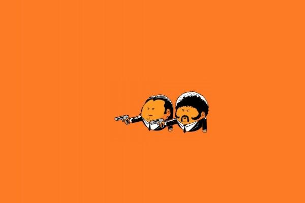 """Dibujo de Vincent y Jules """"Pulp Fiction"""""""