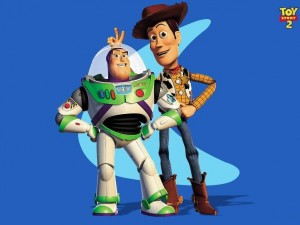 Woody y Buzz en Toy Story 2