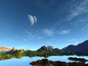 Dos lunas en el cielo