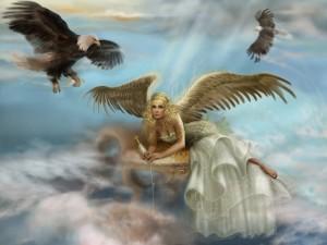 Ángel y águilas