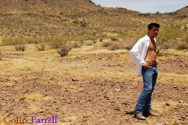 Colin Farrell en el desierto