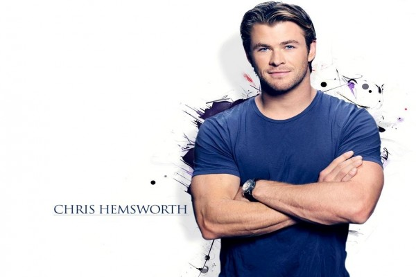 Chris Hemsworth, feliz