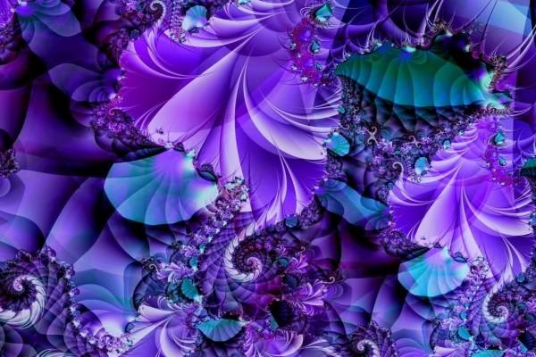 Fractal azul y violeta