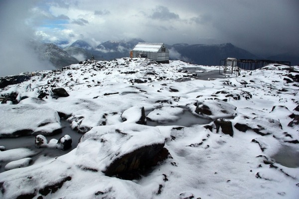 Refugio Otto Meiling, en el lado argentino del Monte Tronador