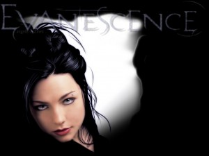 La cantante Amy Lee de Evanescence
