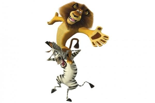 """León y cebra de """"Madagascar"""""""