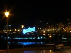 Postal: Noche en Mar del Plata