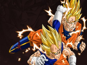 Postal: Goku vs Vegeta
