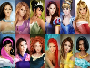 Postal: Princesas Disney (por Marta De Winter)