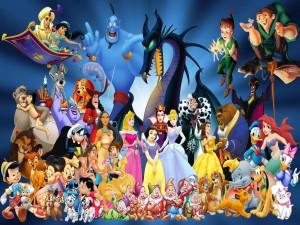 Postal: Personajes Disney